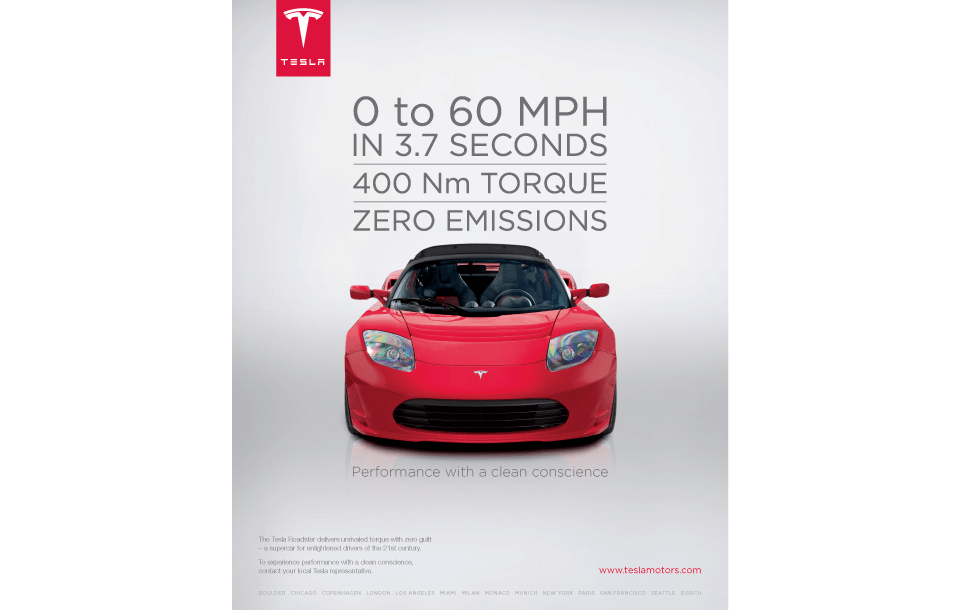 Corporate Advertising Campaign for Tesla Cars - Design Inc