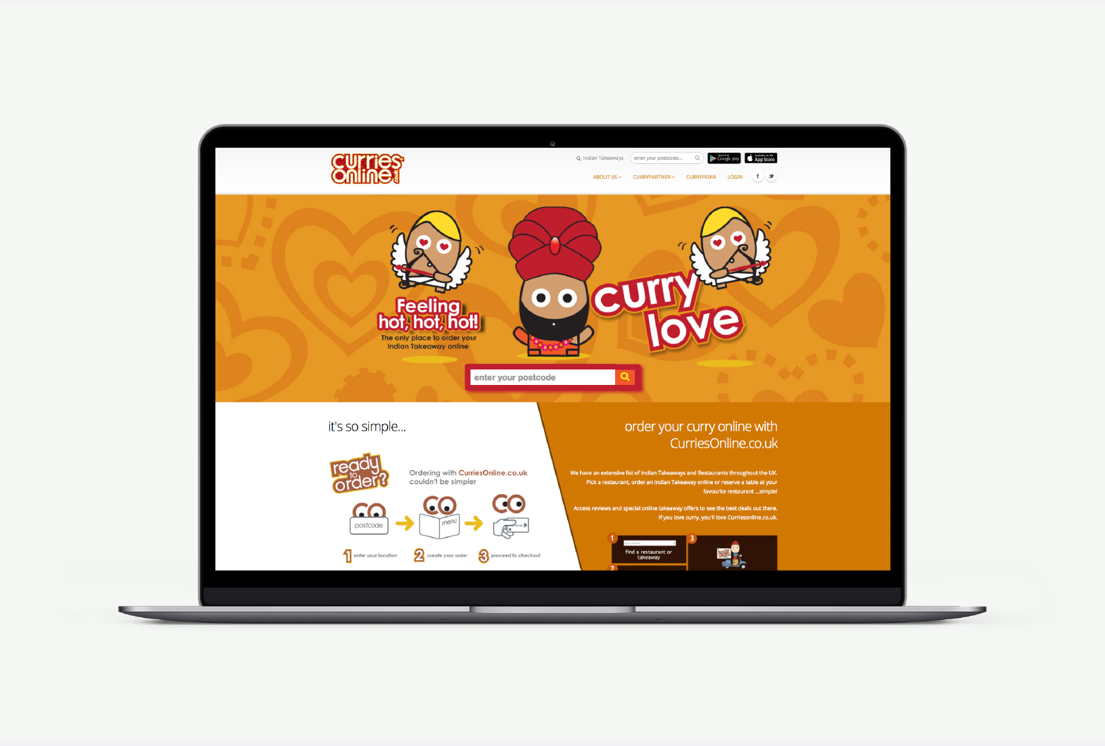 Curries Online retail advertising
