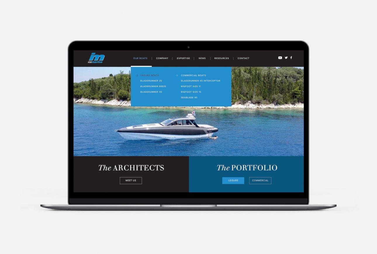 Ice Marine web design