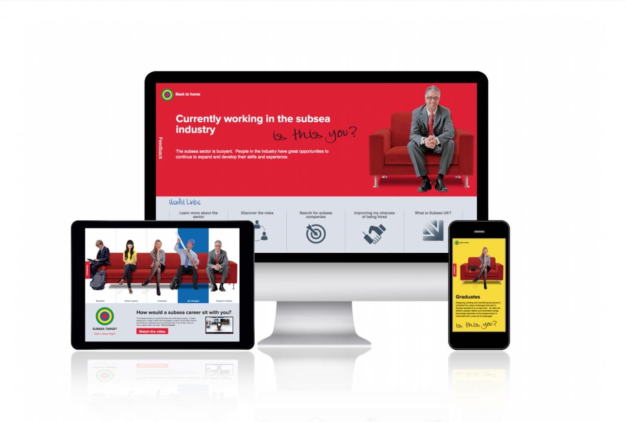 Subsea Target website design