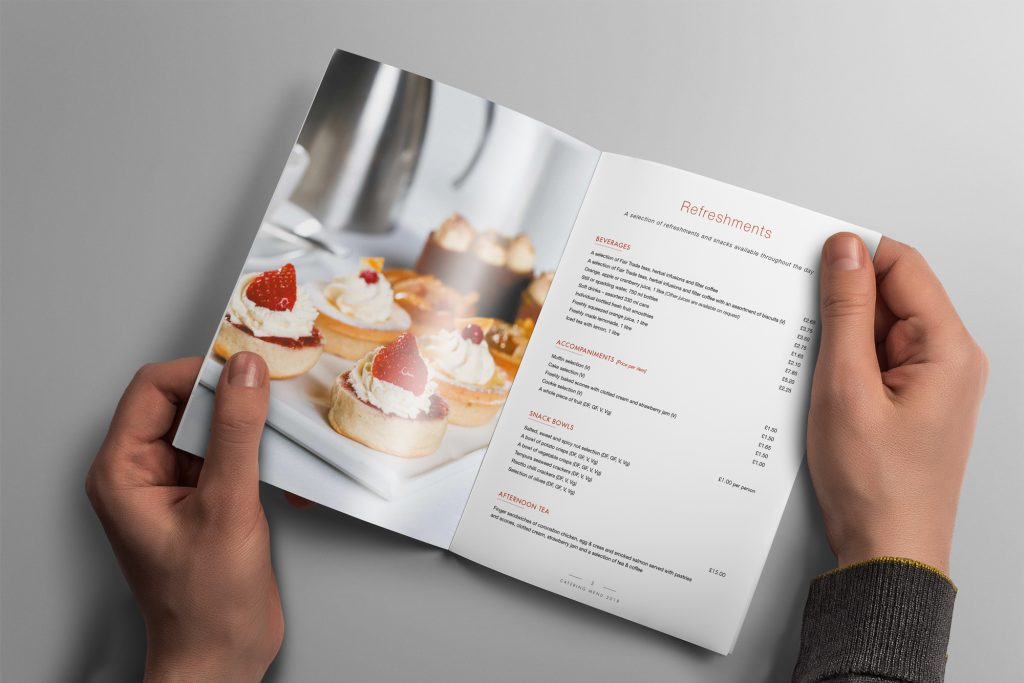 Catering brochure design by Design Inc UK