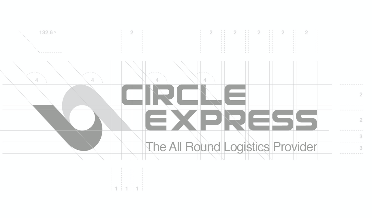 courier & logistics marketing. Updated brand identity for Circle Express
