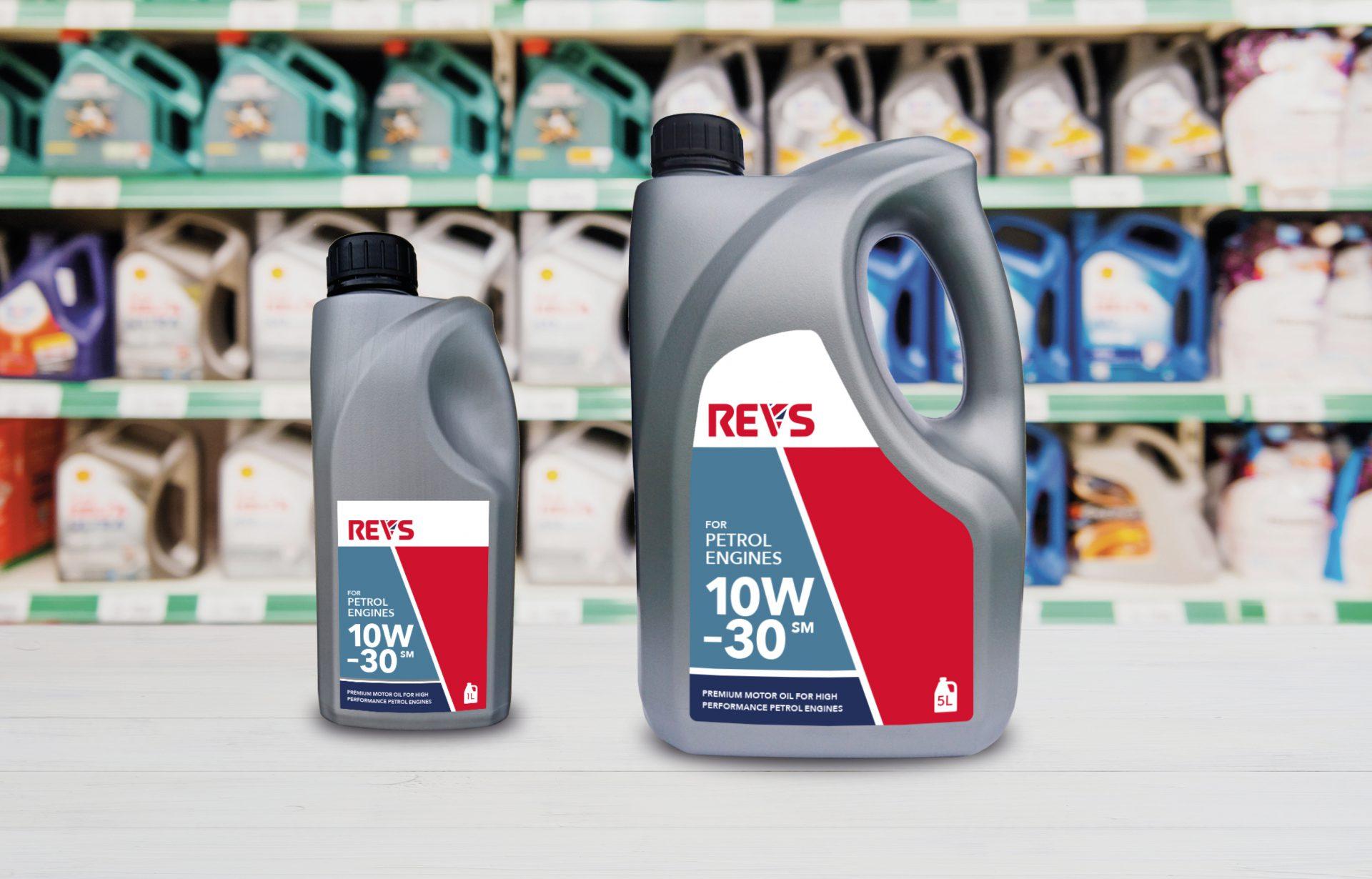 REVS packaging design by branding agency, Design Inc