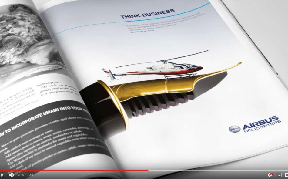 Aviation marketing brochure