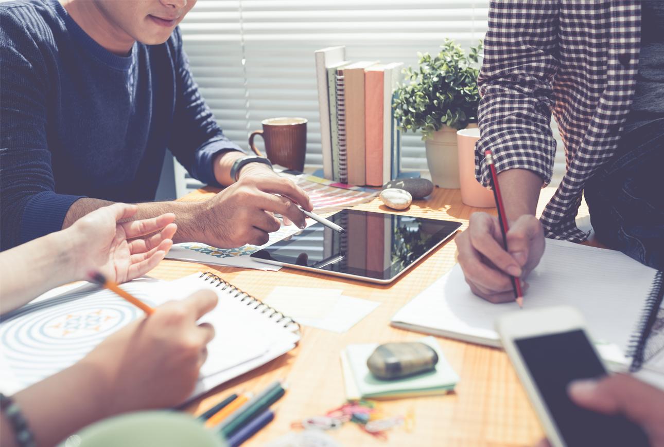 Brainstorming ideas - UK creative agency