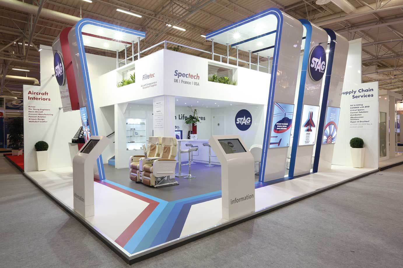 Exhibition stand graphics - one of the creative agency services provided by Design Inc