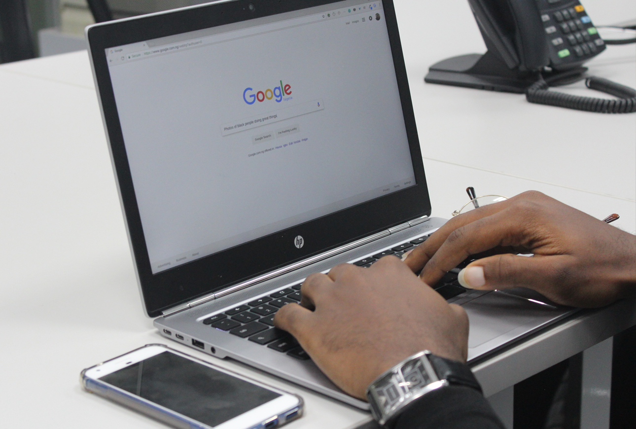 using SEO & PPC on a laptop