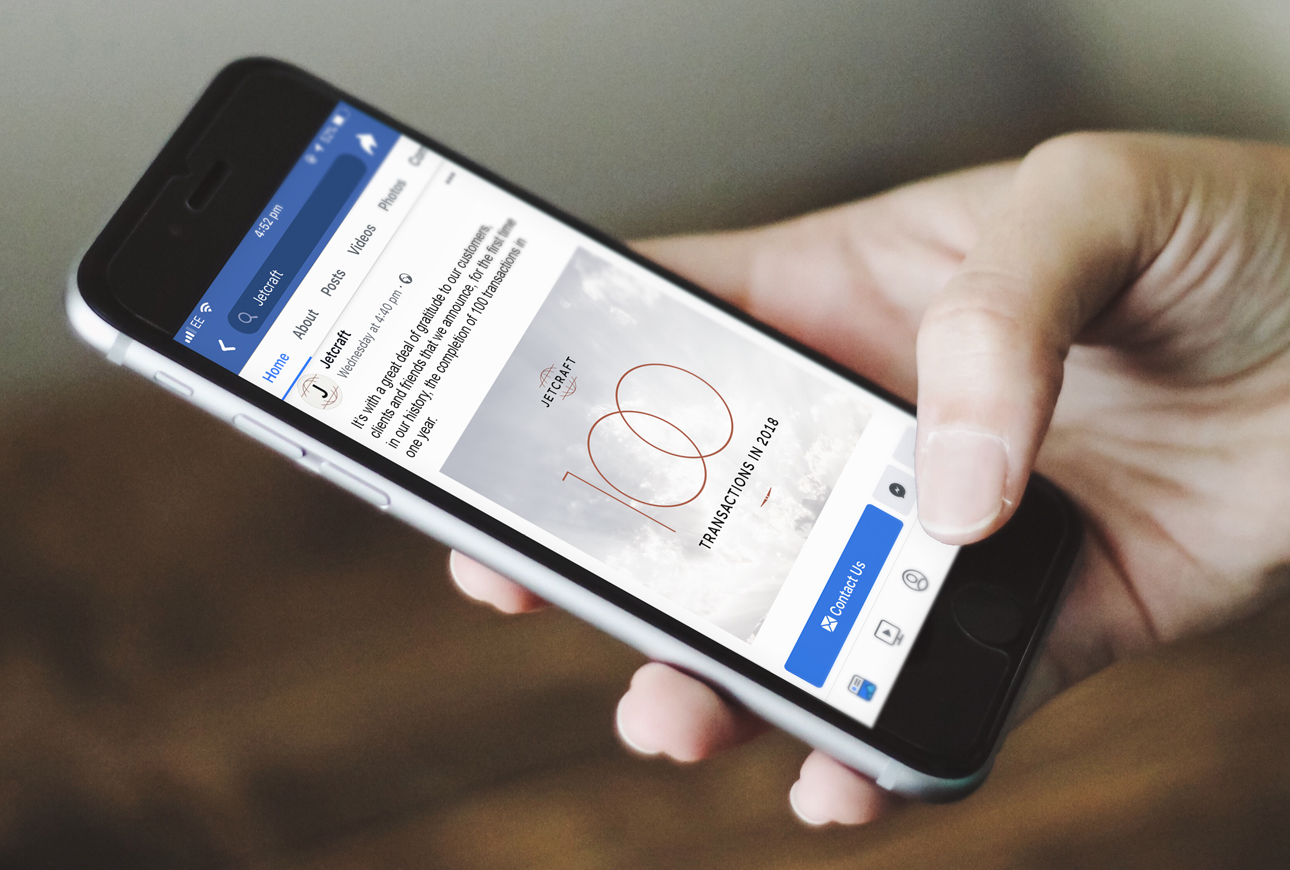 Social media advertising on mobile phone