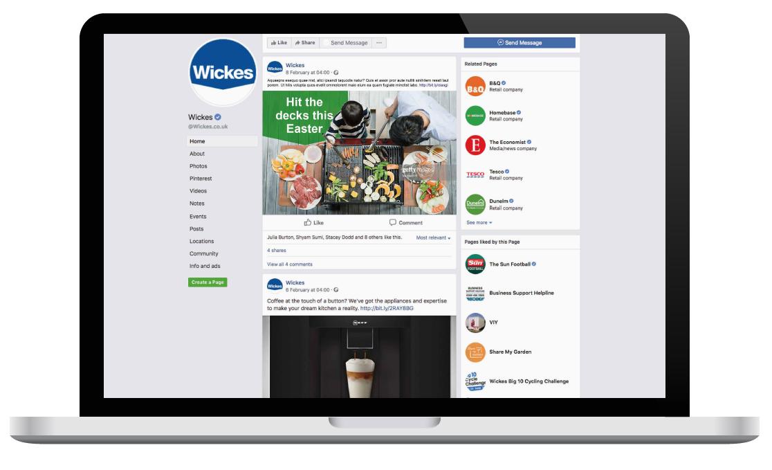 digital marketing: social media advertising on a laptop