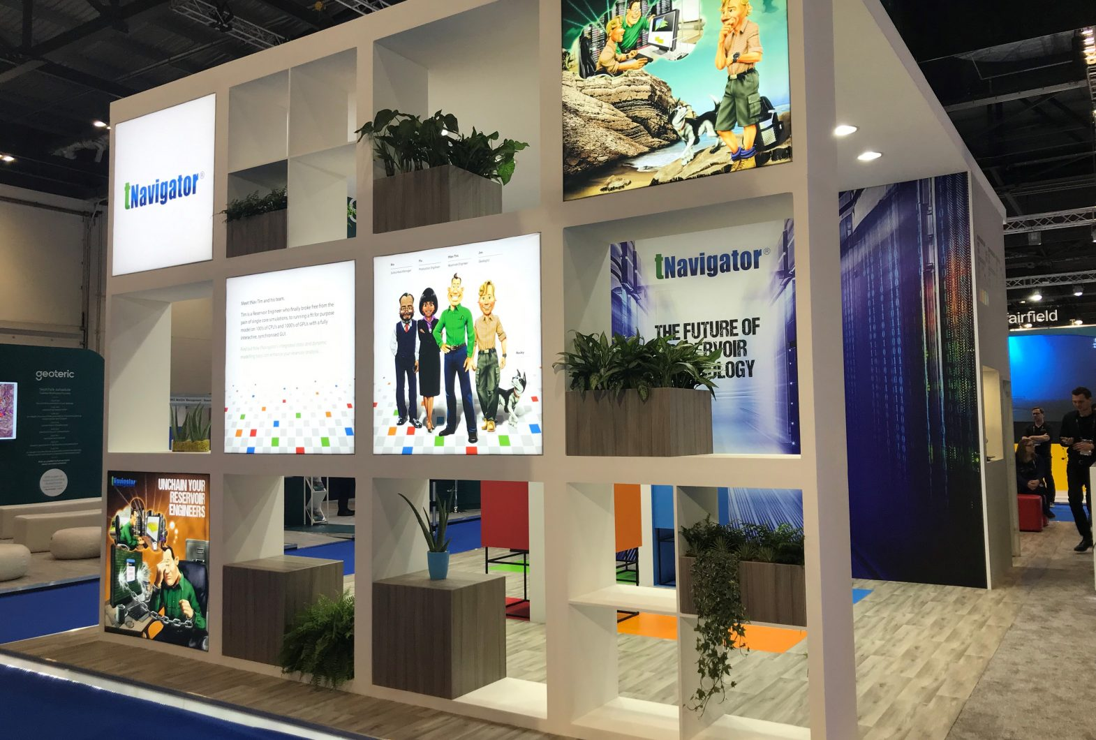 exhibition stand for Rock Flow Dynamics