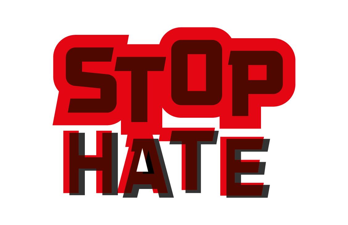 hate crime public information brand logo