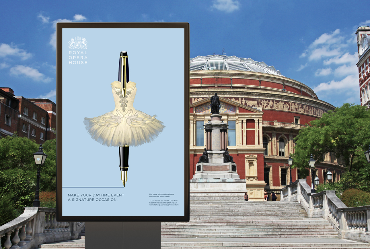 Award winning advertising campaign for Royal Opera House by venue marketing specialist, Design Inc UK