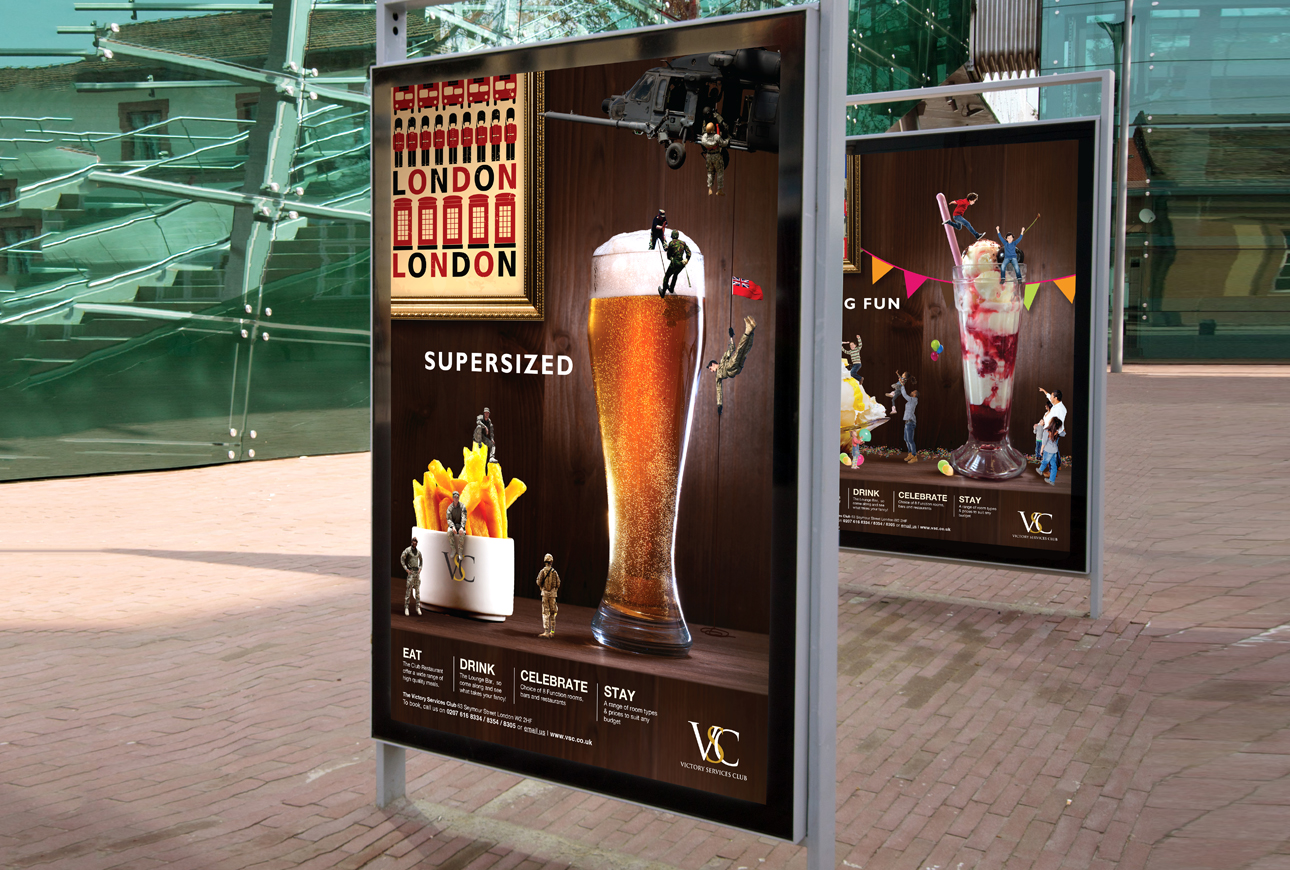 Large format advertising for VSC created by venue marketing specialist, Design Inc UK