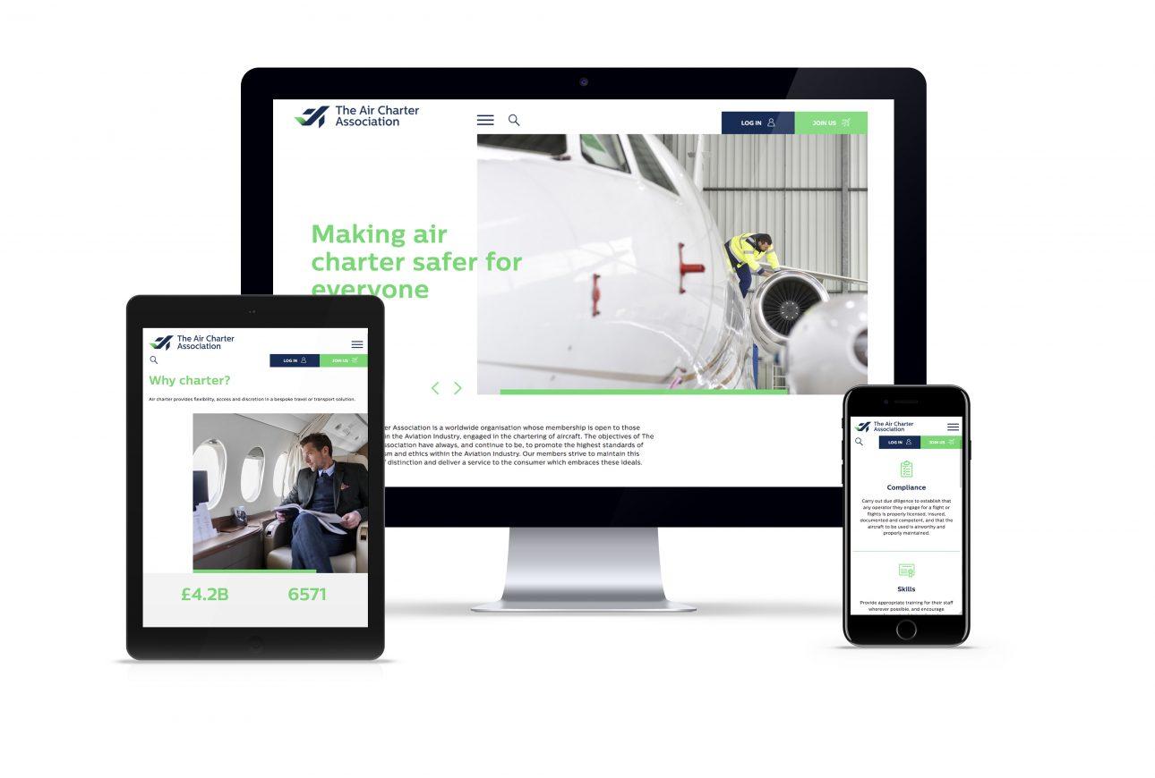 website portfolio: Air Charter Association website
