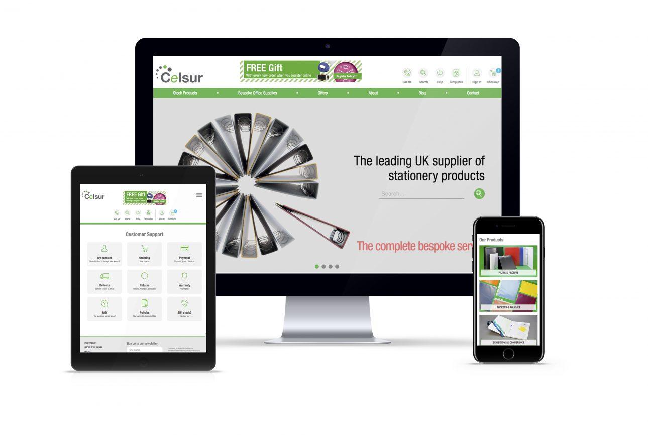 website portfolio: Celsur website
