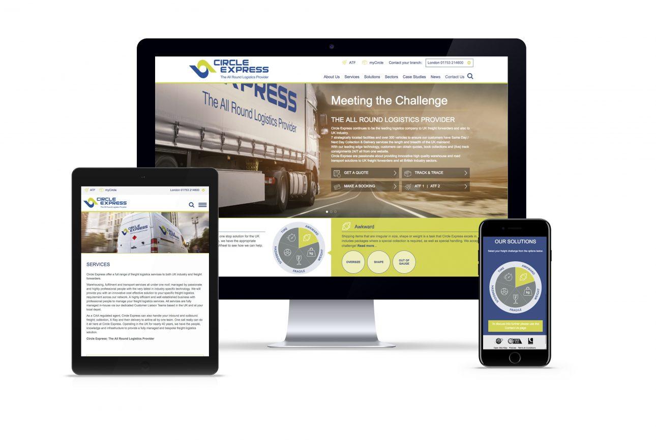 website portfolio: Circle Express website