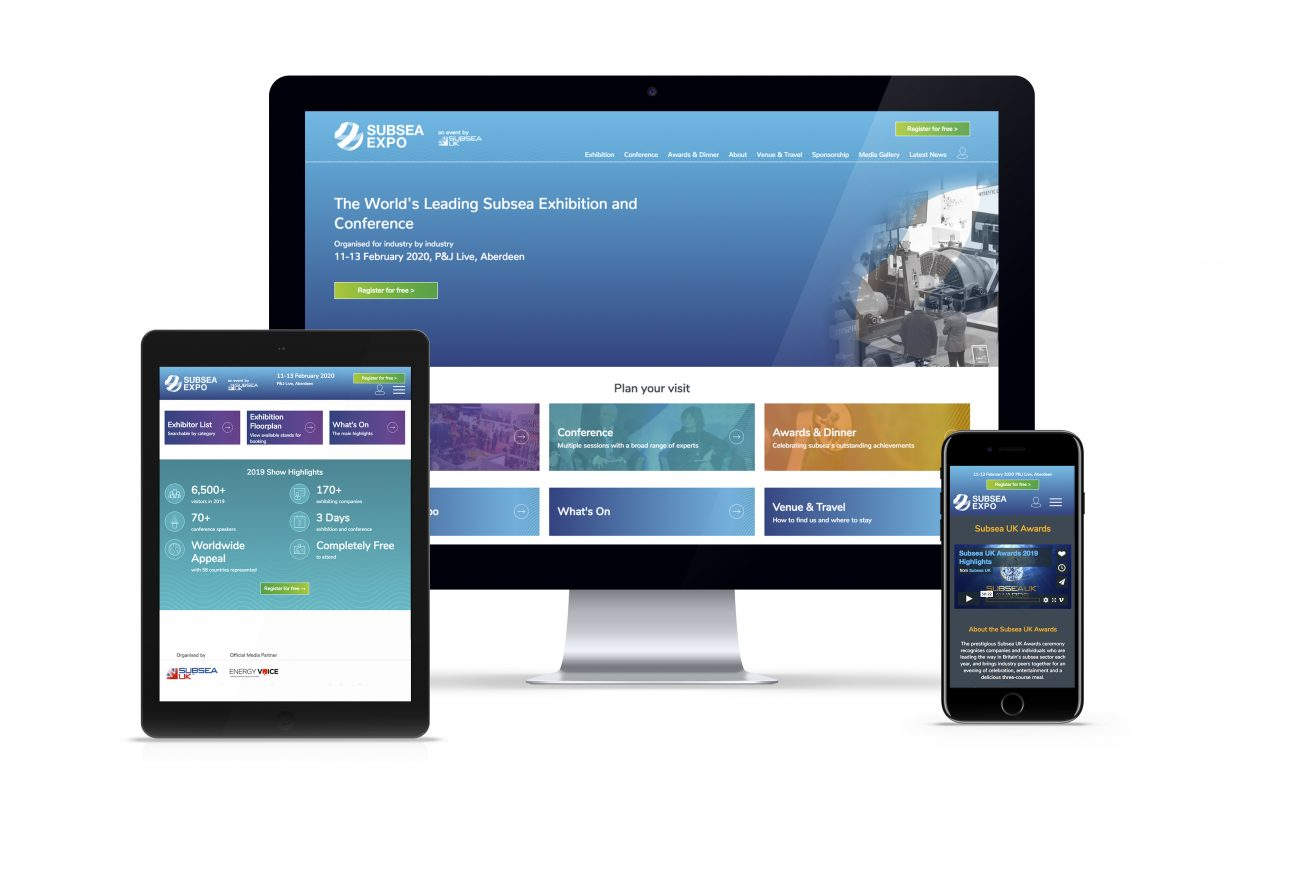 website portfolio: Subsea Expo website
