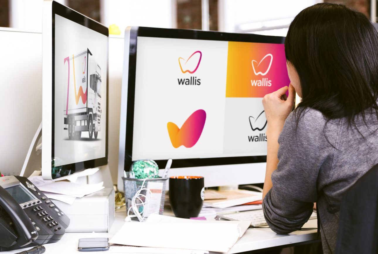 Devising the logistics brand identity for Wallis Freight