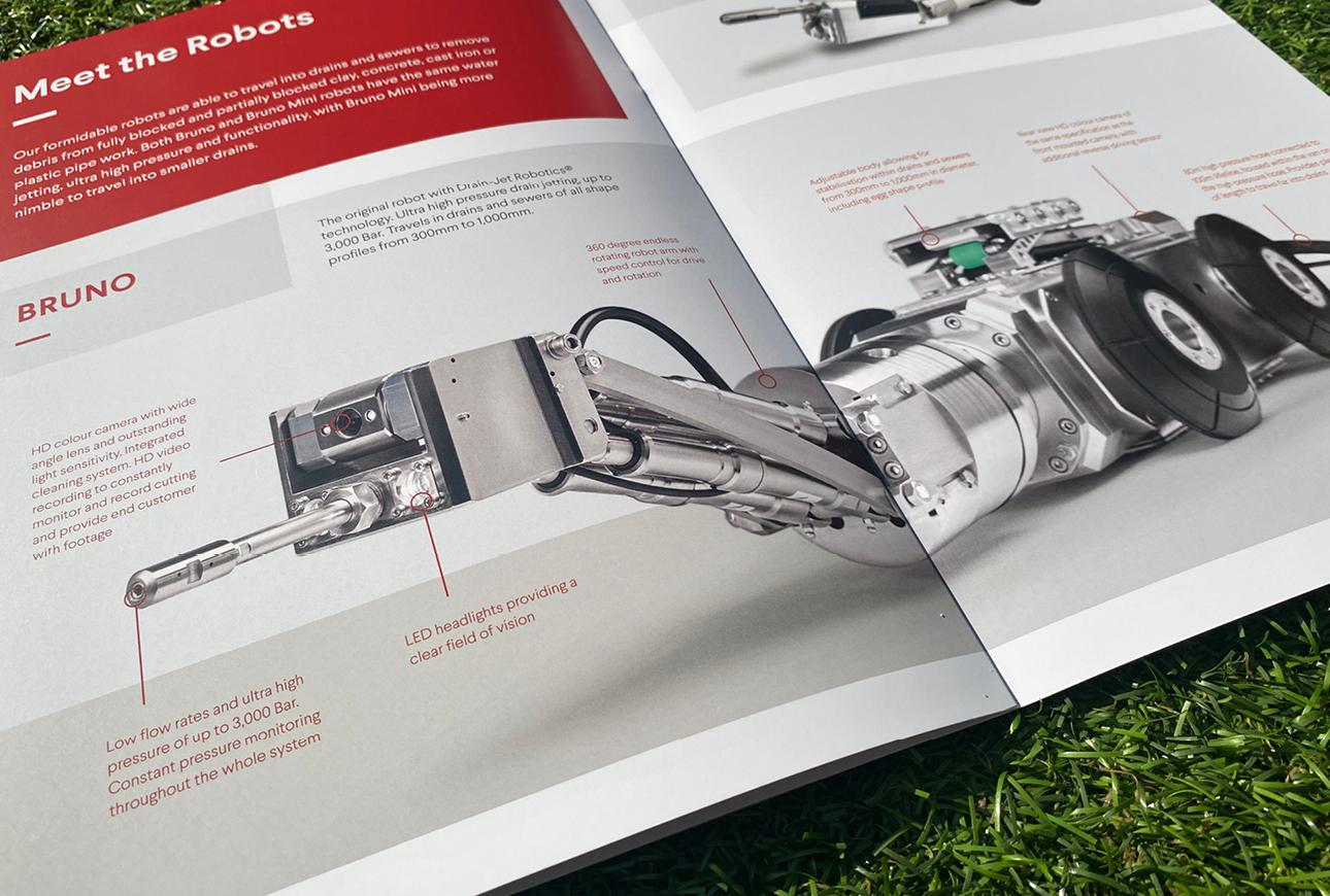 Drainjet Robotics brochure design