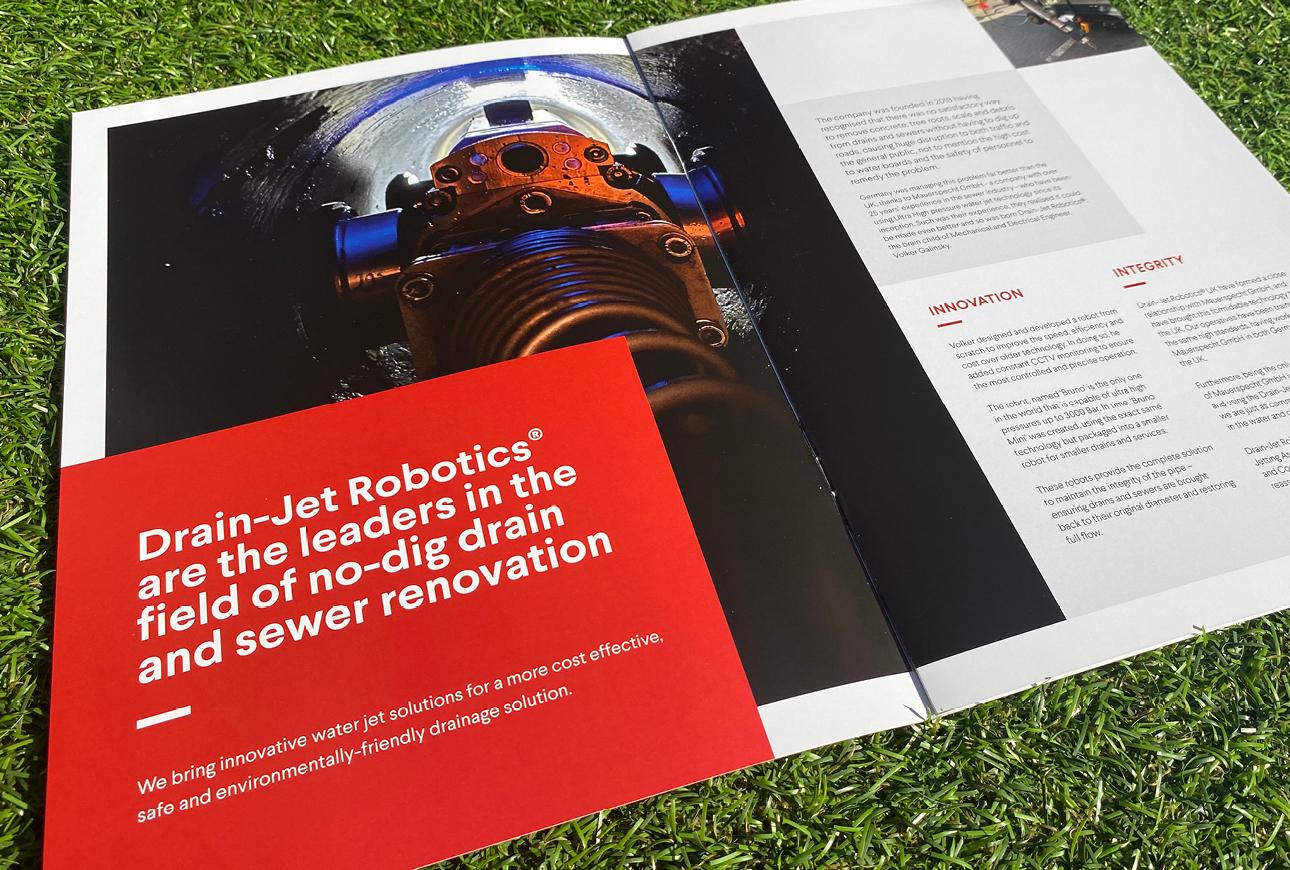 DrainJet brochure design