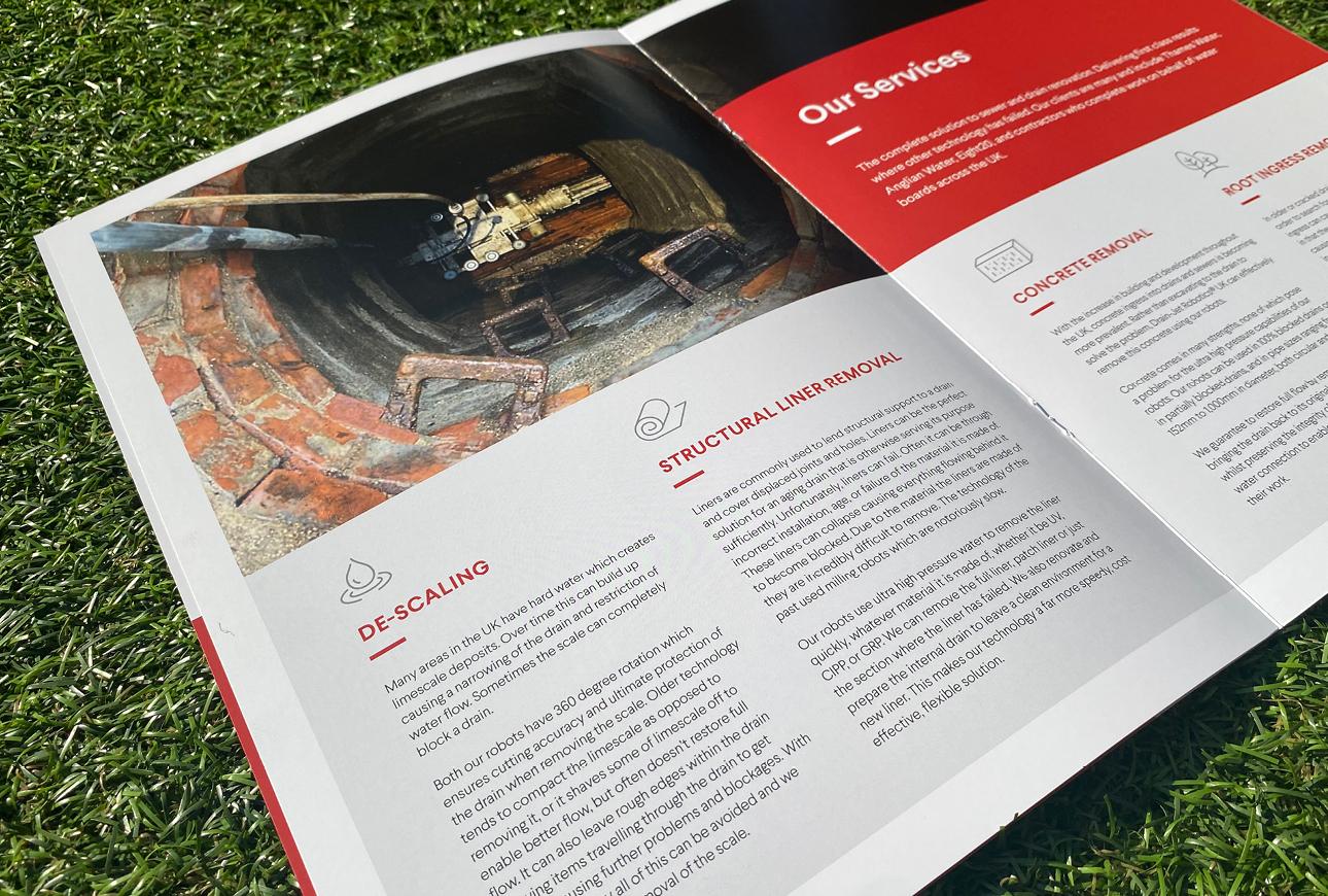 Drain-Jet brochure design