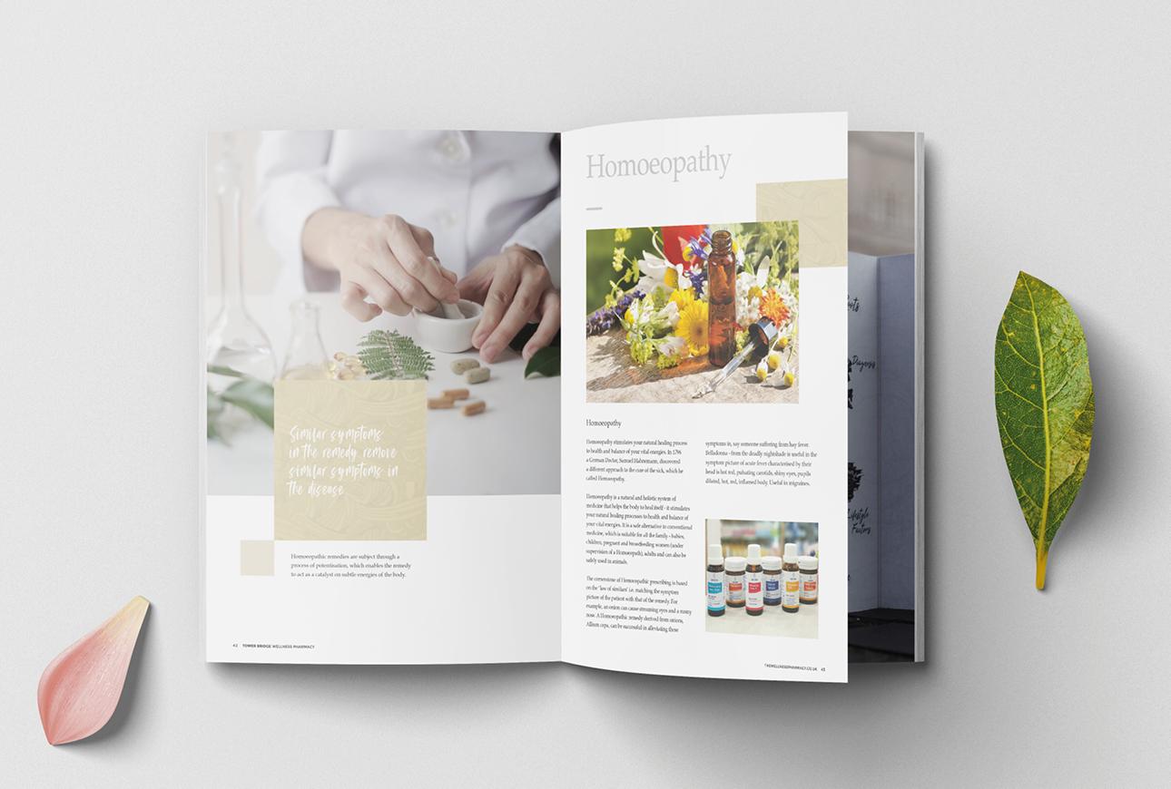 healthcare services brochure for Tower Bridge pharmacy