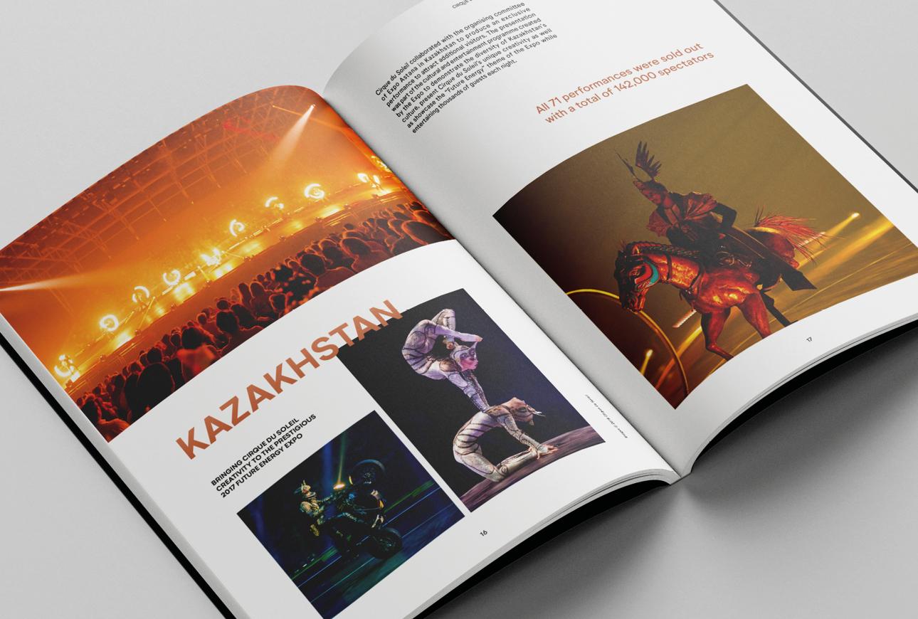 Cirque du Soleil brochure